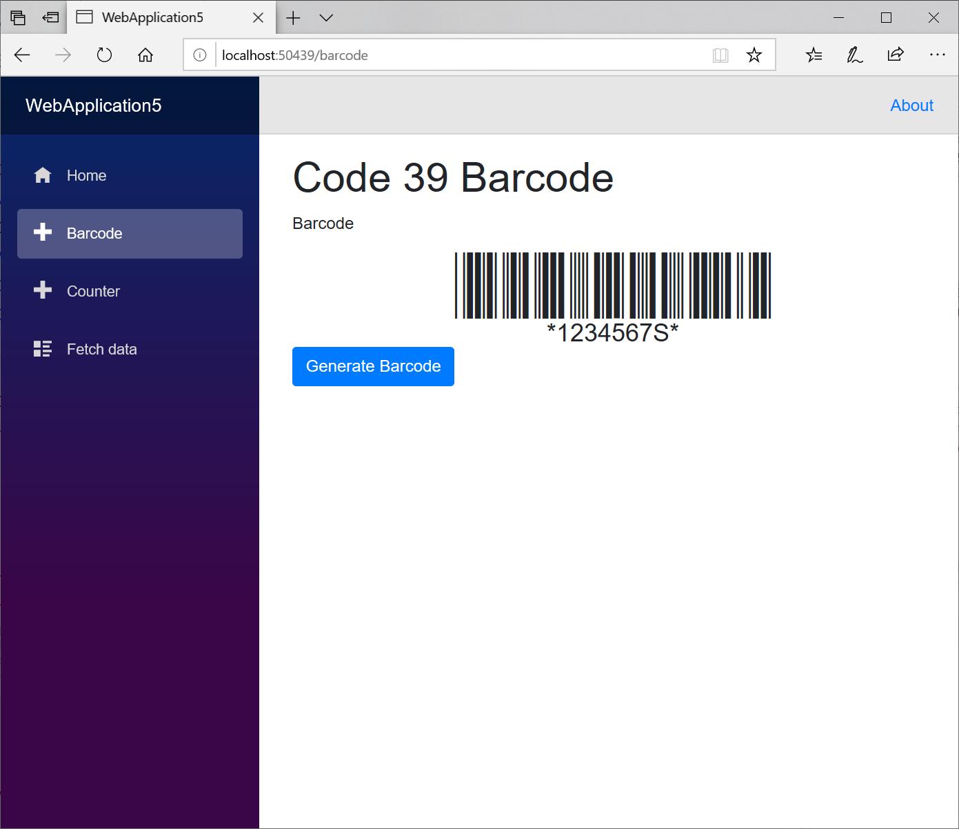 Blazor Barcode